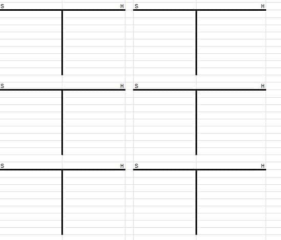T-Konten, Kontenblätter Vorlage, Muster, Beispiel zum kostenlosen Download für Excel und PDF